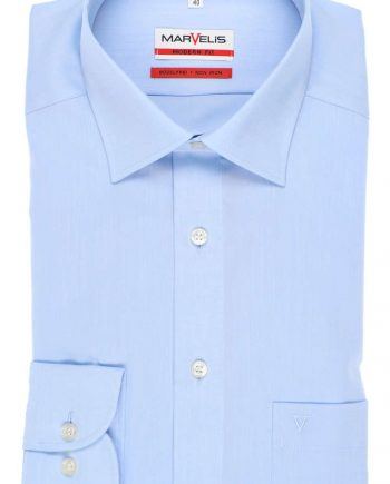 4704-64-11 MARVELIS MODERN FIT SHIRT BLAUW