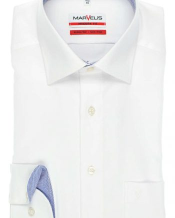 4767-64-00 MARVELIS MODERN FIT SHIRT WIT, STRUCTUUR