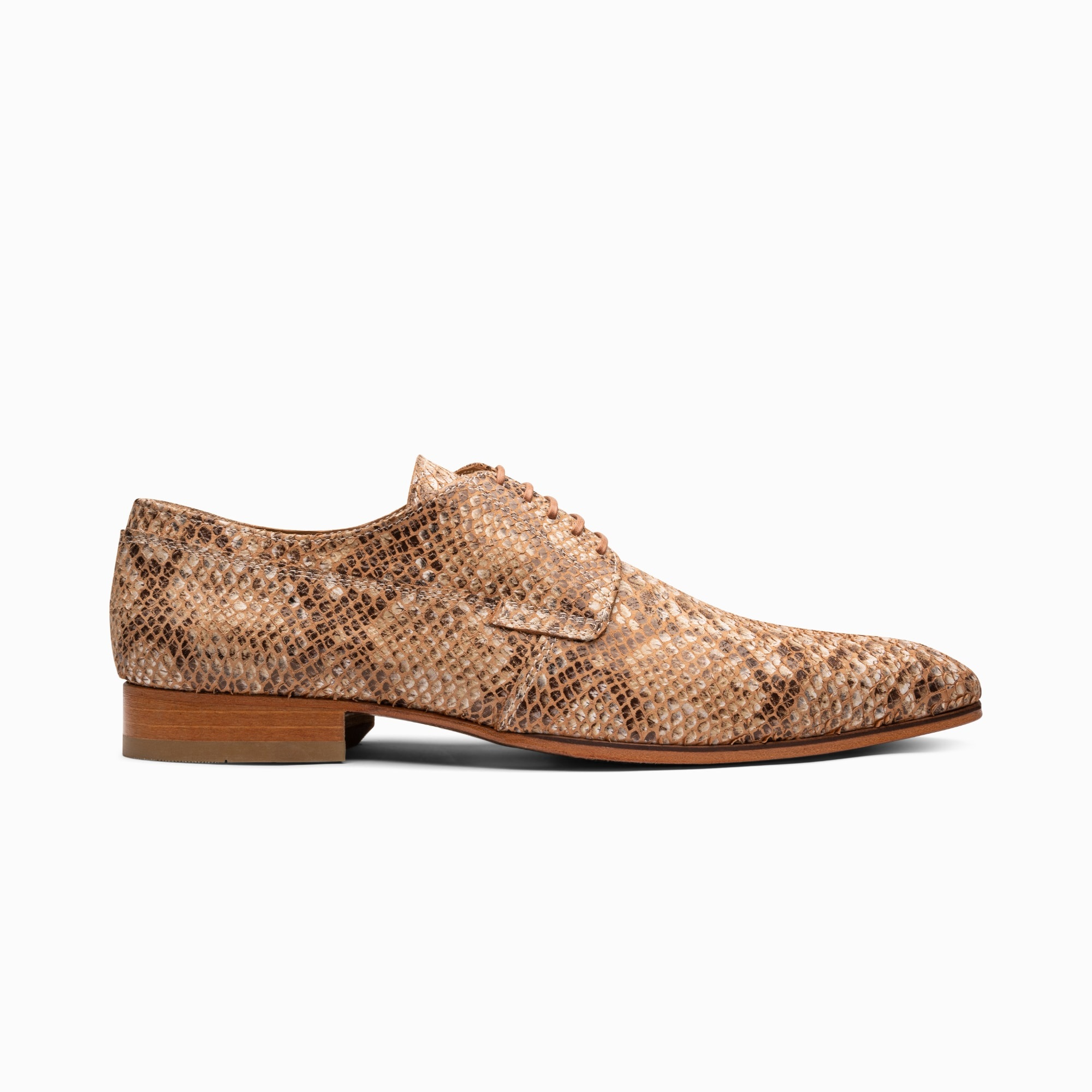 anaconda-silver brown-leather shoes-1708-1